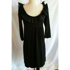 J.CREW Black Dress Ruffle Size S  #thelimited #WeartoWork