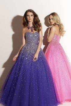 Luxe Dazzling Purple or Pink A-line Sweetheart Beads and Sequins Adorn Through Out Tulle Faced Satin Floor Length Prom Dresses/Quinceanera Dresses/Sweet 16 Dresses Prom Girl Dresses, A Line Prom Dresses, Prom Party Dresses, Quinceanera Dresses, Homecoming Dresses, Bridal Dresses, Evening Dresses, Formal Dresses, Dress Prom
