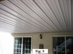 Metal roofing under the deck for a dry lower deck