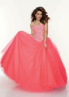 Long, pink prom dress <3
