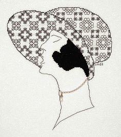 Louisiana Blackwork Kit by Classic Embroidery