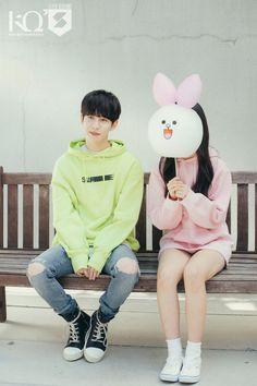 Park Kyung (박경) - Block B - and Eunha of GFRIEND