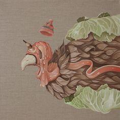 """Twee Muizen """"Pavo"""" Oil on linen. Available: www.plasticmurs.com/portfolios/pavo  #popsurealism #surreal #art"""