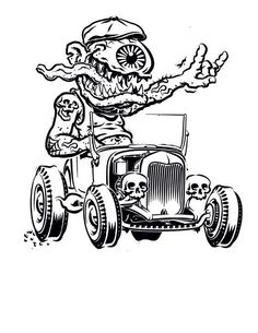 138 best hot rod cartoons images drawings of cars car drawings 1969 Ford Anglia monster in hot rod