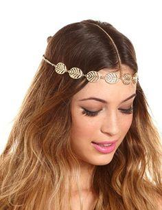 Filigree Leaves Goddess Headwrap: Charlotte Russe