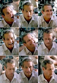 PAUL NEWMAN MAKING SOME EXPRESSIONS...