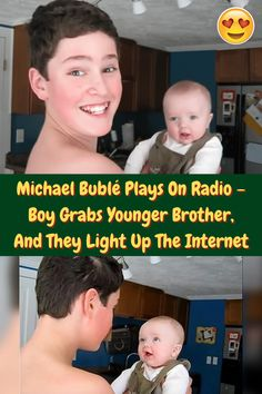 #Michael #Bublé #Plays #Radio #Boy #Grabs #Younger #Brother #Light #Up #Internet Michael Buble, Being In The World, Winter Fashion Outfits, Beauty Make Up, Hair Highlights, Chic Wedding, Couple Goals, Light Up, Cute Babies