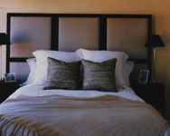 DIY Headboard - squares on contrasting background