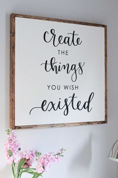 DIY Wood Sign with Calligraphy quote More