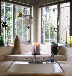 Corner Kitchen Sink Design Ideas (1)