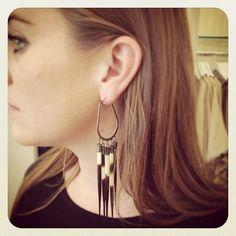 porcupine quill hoop earrings