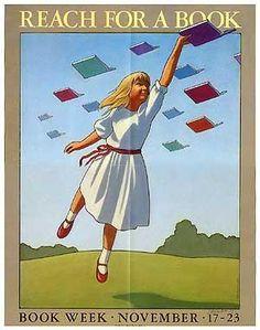 Official Children's Book Week poster, 1986, Chris Van Allsburg (b. 1949)