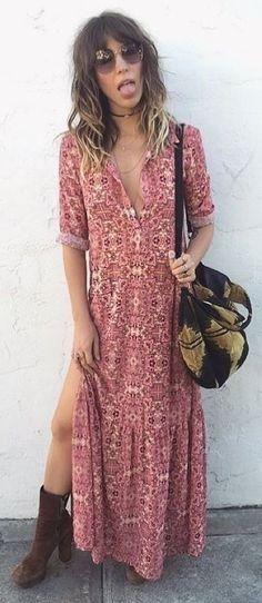 Boho Splited Maxi Dress | ForLoveAndLemons
