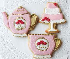 Mother's Day Cookies, Cookies For Kids, Sugar Cookies, Teacup Cookies, Tea Table Settings, Best Cookie Recipes, Royal Icing Cookies, Cookie Ideas, Biscotti