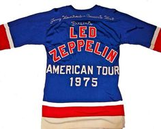 Led Zeppelin's 1975 American Tour Hockey Jersey  @BBC6Music   via @MurrMarie