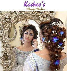 Kashees Modern Makeup And Hairstyles for Brides 2016