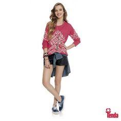 Street style. Moda teen feminina pra lacrar este dia reúne peças que são o xodó das meninas de atitude. #Tenda