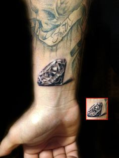 Best Diamond Tattoo Designs | InkDoneRight These dazzling gemstones are the most treasured in the world, and for good reason: they're beautiful. Take a look at some of the Best Diamond Tattoos...