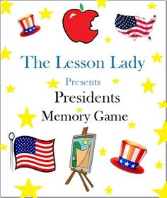 Presidents Memory Game! This game contains 48 cards to help your students learn about 24 influential presidents. Available for purchase.