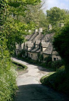 Arlington Row, Bibury, Gloucestershire, England.
