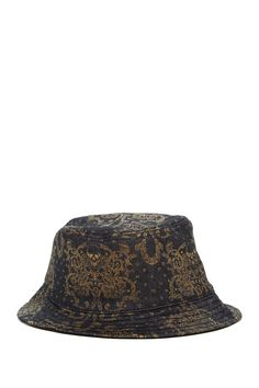 Metallic Print Bucket Hat