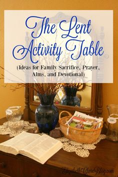 What a great idea! Everything you need for Lent all in one place. Perfect for a family with kids. Sacrifice, prayer, alms, devotion!