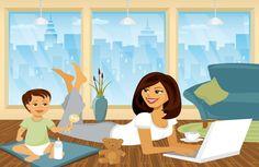 mother and her children cartoon - Google'da Ara