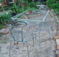 Vintage SALTERINI Mid Century Modern Patio / Garden Table U0026 4 Chairs    Houston