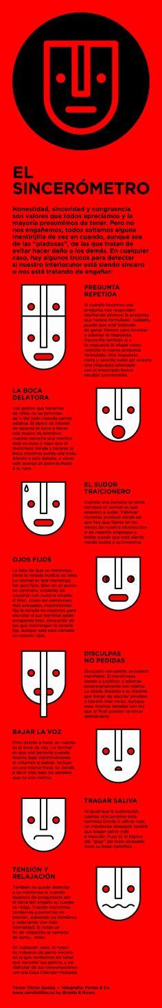 Cómo detectar verdades y mentiras #infografia #infographic #psychology