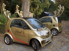 Is Santa upgrading his fleet of reindeer for these Lindt Gold Truffles Smart Cars?