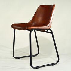industrial lederstuhl zwei cooler schalensitz mit lederbezug von industrial. Black Bedroom Furniture Sets. Home Design Ideas