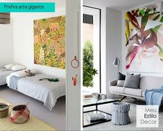 Por uma decoração mais simples, prefira uma peça de arte gigante à parede galeria. Mais fácil de instalar, mais fácil de limpar • MeuEstiloDecor