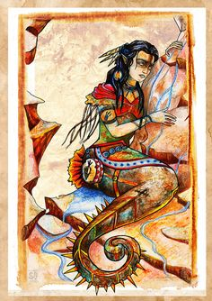 Native American Mermaid Maidens of the Seven by SophieGrunnet