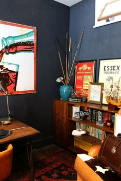 masculine office space-