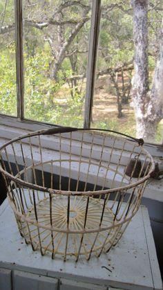 Fablous Vintage egg basket chippy cottage by whitecottageinhills, $55.00