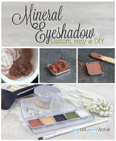 Easy DIY Mineral Eyeshadow Compact. Make your perfect color blend without fillers or perfumes! | Saynotsweetanne.com | #diy #makeup #beauty ...
