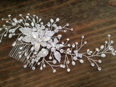 Bridal Hair comb with Fresh water pearls wedding by WEDDINGLASSOS, $95.00