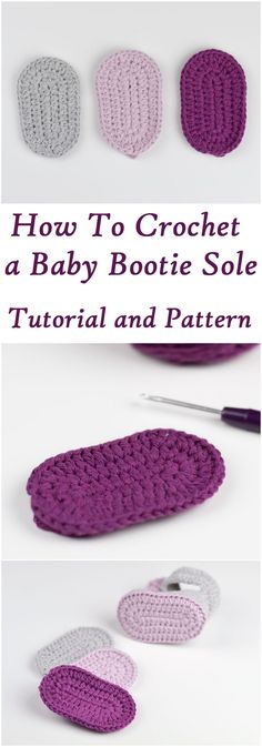 learn to crochet a baby bootie sole free video tutorial and a written pattern enjoy