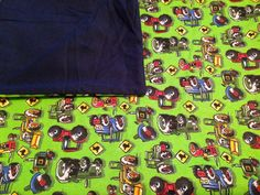 Large Baby Swaddle Blanket, Tractors, Navy, Green, Red, Blue, Baby Blanket, Baby Shower Gift on Etsy, $16.50