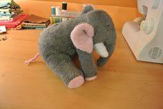 Free Stuffed Toy Patterns | Elephant Stuffed Toy Free Sewing Pattern Karensvariety Pic #17