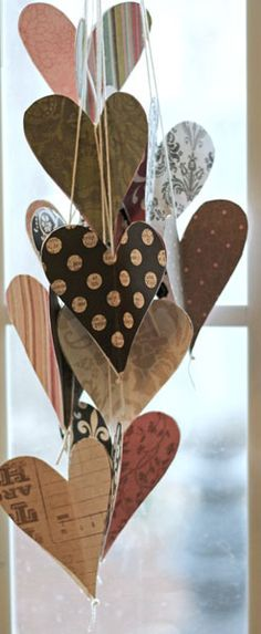 Hanging hearts bouquet