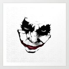 Joker Art Print by HYRenee - $15.00