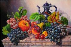 Diy Diamond Painting Cross Stitch Kits Full Diamond Embroidery grape fruit Needlework Diamond Mosaic Home Decor Cross Paintings, Your Paintings, Cross Stitch Fruit, Mosaic Pictures, Diamond Paint, Crosses Decor, Fruit Print, Creative Activities, Embroidery Kits