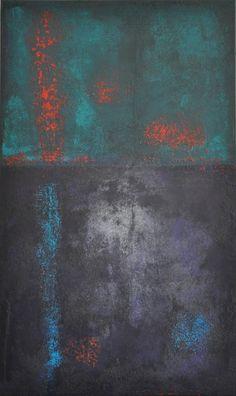 abstrakte Acrylmalerei, Unikat, Original,100x60cm von Kunst & Design Werkstatt auf DaWanda.com