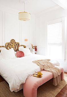 Before and After: A Rental Bedroom with Luxe, Hotel-Worthy Flair Rental Bedroom Redo – White Parisian Look Bedroom Makeover My New Room, My Room, Dream Bedroom, Master Bedroom, Cozy Bedroom, Bedroom Ideas, Home Interior, Interior Design, Apartment Interior