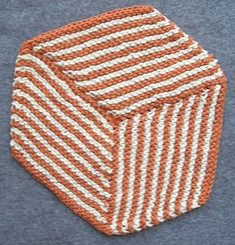 Free Knitting Pattern - Dishcloths & Washcloths : Optical Illusion Cloth