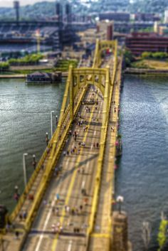 Love those yellow bridges of Pittsburgh. Photo by Dave DiCello