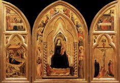 Taddeo Gaddi, Triptych, 1333, Berlin, Gemäldegalerie der Staatlichen Museen zu Berlin.