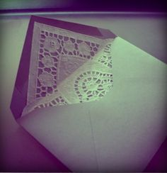 Envelope with Paper Lace Embellishment