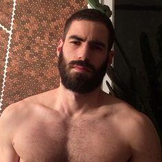 Julien Casas - The Husband Catalog Hairy Men, Bearded Men, Sexy Bart, Awesome Beards, Beard No Mustache, Hairy Chest, Hair And Beard Styles, Men's Grooming, Good Looking Men